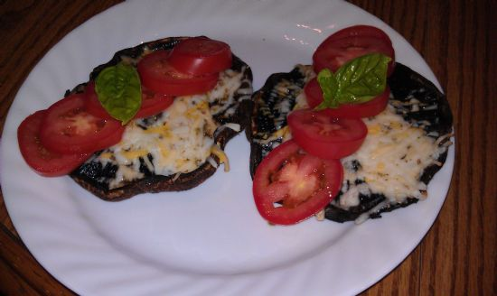 Grilled Margherita Portobello Mushrooms
