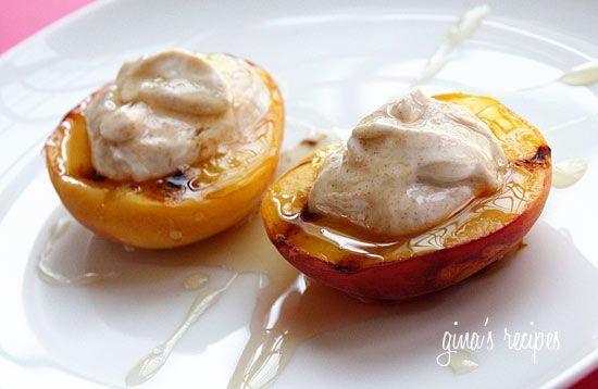 Grilled Peach Desert