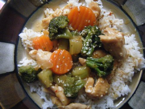 EASY HEALTHY SESAME CHICKEN