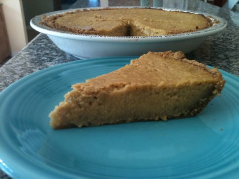 Lighter Pumpkin Pie with Graham Cracker Crust