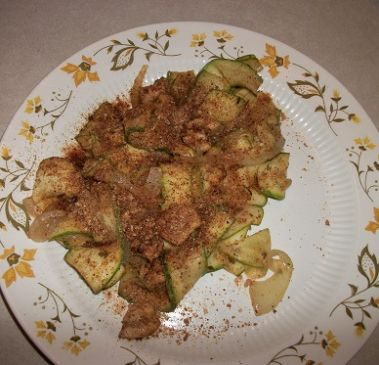 Sauteed Chicken and Zucchini Ribbons