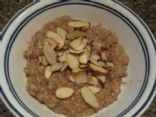 Slow Cooker Protein-Rich Almond Joy Oatmeal