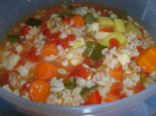 Garden Vegetable Barley soup