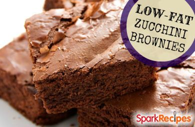 low fat zucchini brownie