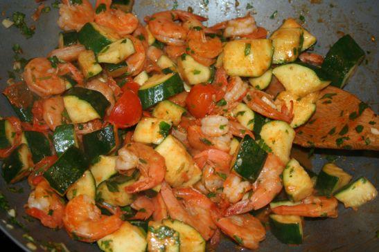 Lime-Cilantro Zucchini & Shrimp