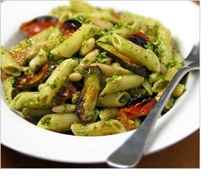 ... tomatoes and zucchini tossed with cannellini beans penne pasta and