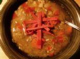 Hearty Split Pea Soup ( Vegan Low Calorie Low Fat )