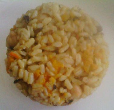Arroz integral con Garbanzos y Calabaza
