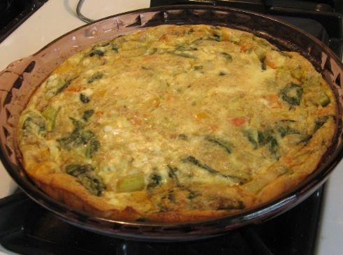 Spinach, Onion-Pepper & Feta Quiche (by SHAR261)