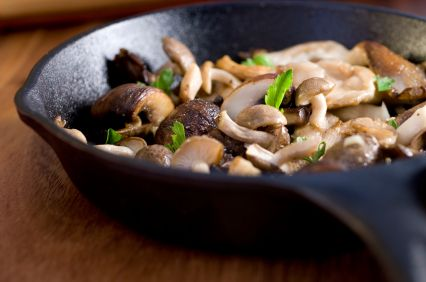 Triple Mushroom Saut� with Toasted Walnuts