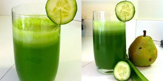 Celery, Cucumber & Pear Green Juice