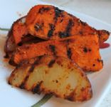 Spiced Grilled Mixed Potato Wedges