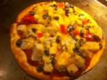 Pita pizza - Pork & Black Beans
