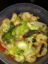 Sauteed Cabbage with Shrimp