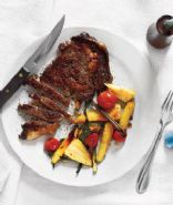 RPAH Steak with Roasted Parsnips and Scallions