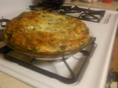 Mushroom Spinach Jalapeno Quiche
