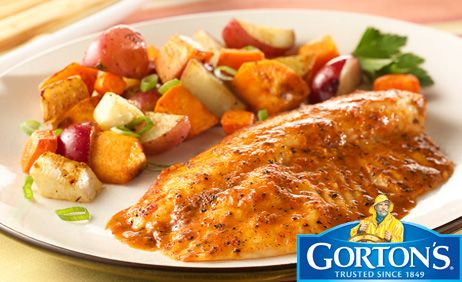 Simply Bake Tilapia with Roasted Vegetables from Gorton's�