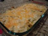 Monica's Cheesy Sour Cream Enchiladas