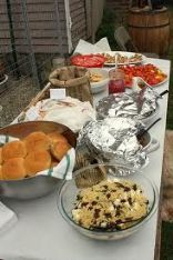 Beaufort Boil Party ~ Garage Buffet Table