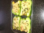 Couscous and Kale Stuffed Pepper