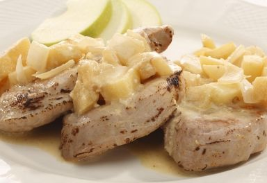 Roasted Pork Tenderloin with Chobani Mustard Sauce
