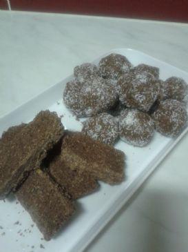Coconut slice/balls - a healthy gluten free alternative