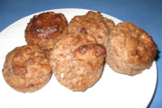 Strawberry Almond Flourless Muffins