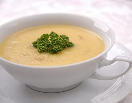 Potato Soup with Gruyere Cheese
