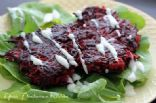Beet & Sweet Potato Fritters