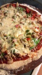 Homemade Turkey and Veggie Pizza