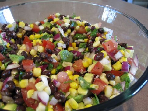 Black Bean, Corn, and Avocado Salsa