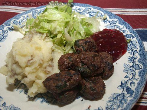 Emma's Ostrich Meatballs w/ garlic & spinach