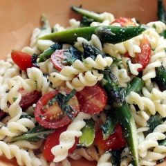 Pasta Salad with Asparagus, Basil, and Grape Tomatoes