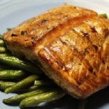 Grilled Salmon (marinated in brown sugar & worcestershire sauce)