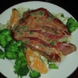 Pan-Seared Tuna with Olive-Wine Sauce