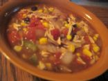 Mexcian Chicken Soup with Black Beans & Veggies