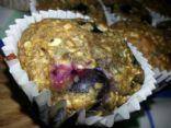Dark Rye Blueberry Flax Seed Muffins