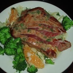Pan-Seared Tuna with Olive-Wine Sauce RECIPE