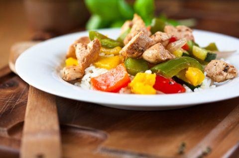 Chicken Oregano with Sweet Peppers 