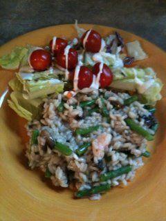 Asparagus,  Mushroom, & Shrimp Risotto