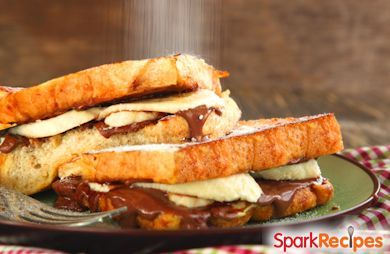 ChefTanner Nutella Banana Stuffed French Toast