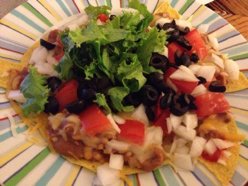 Flat Bean Crunchy Tacos