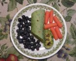 Black Bean and Yellow Rice Spinach Wrap
