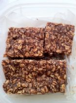 Apple Chocolate Oatmeal No-Bake Protein Bars