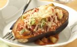 Cheesy Vegetable-Stuffed Eggplant