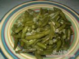 Green cowpeas with oil