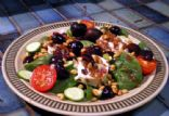 Goats cheese and rocket salad with cherry dressing