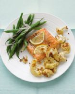 Roasted Salmon with spicy cauliflower