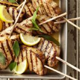 Lemon-Sage Pork Chop Skewers