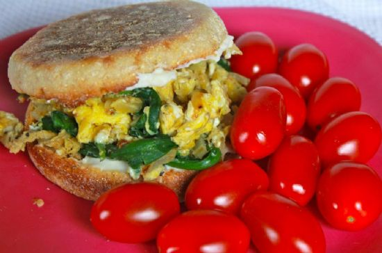 Veggie & Egg Breakfast Sandwich